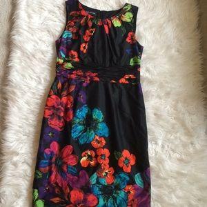 Jones New York floral sleeveless midi dress 12